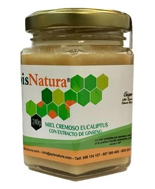 Miel cremosa de eucalipto de Brasil con extracto de ginseng